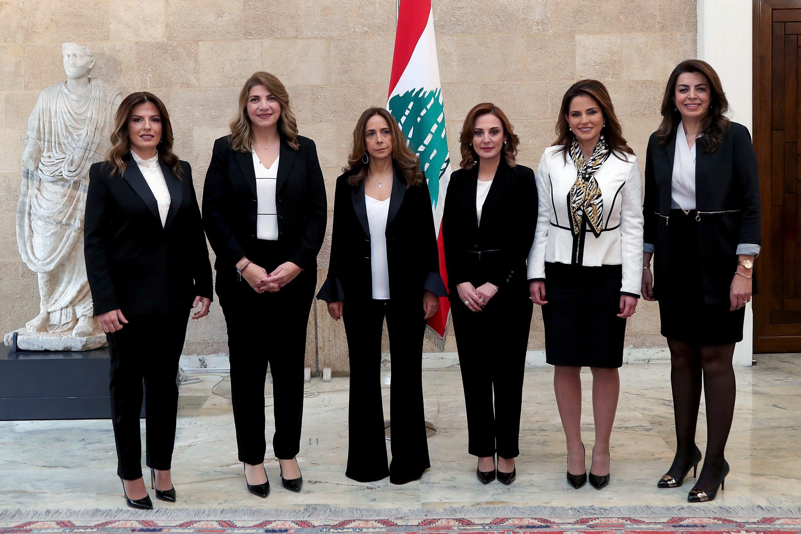 الوزيرات في الحكومة اللبنانية الجديدة