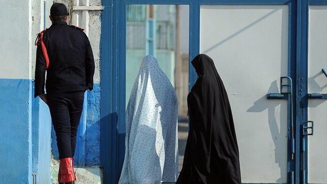 مدخل قاطع النساء في سجن ايفين بطهران