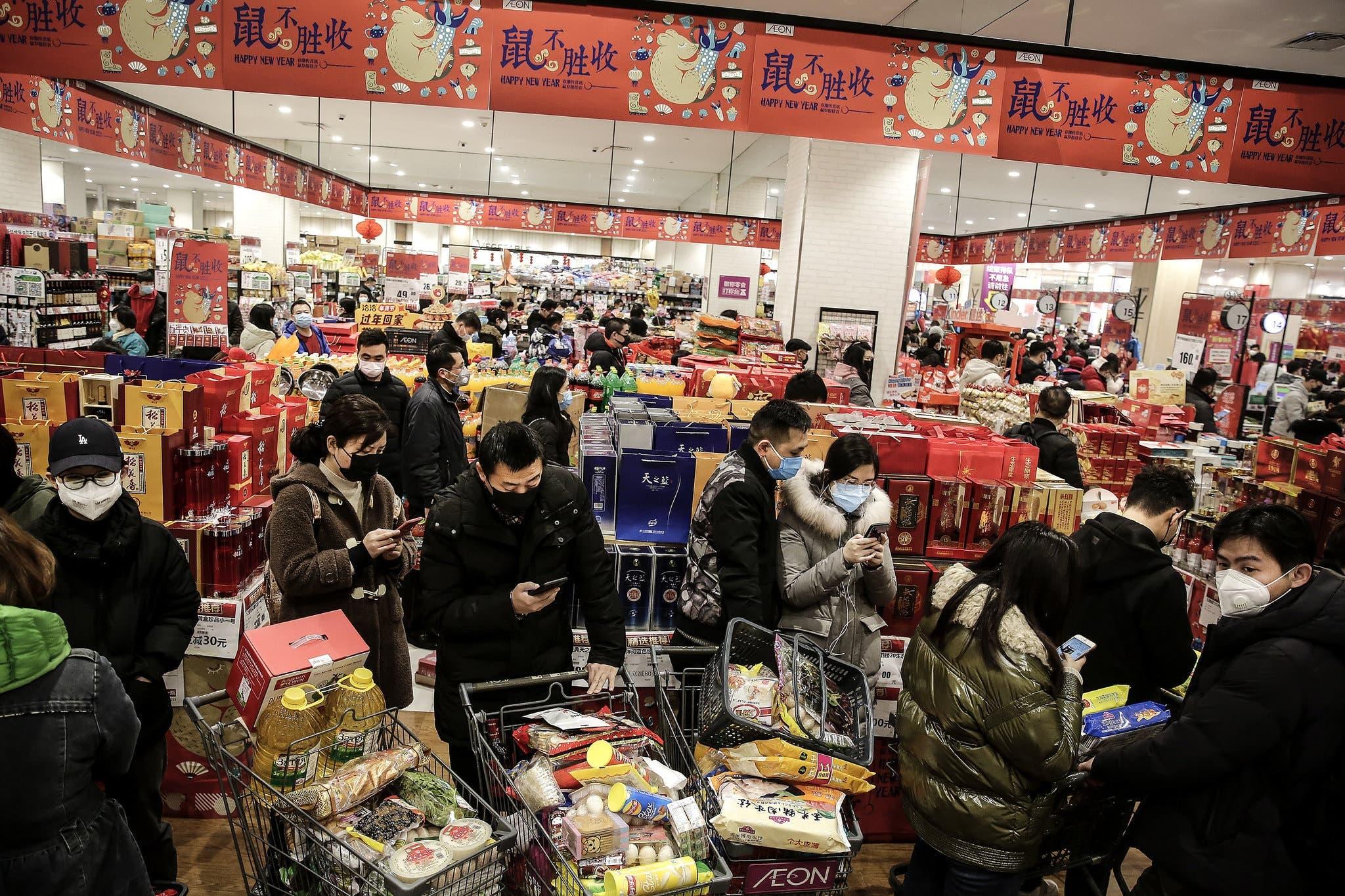 متجر في مدينة ووهان الصينية