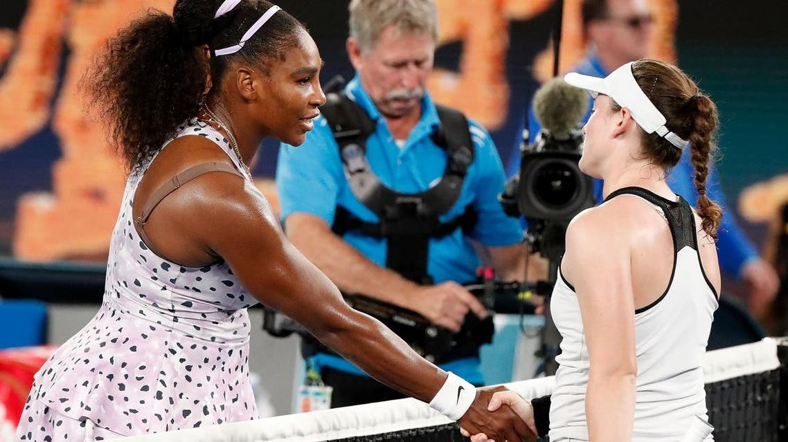 Serena Williams powered her way into the third round of the Australian Open with a 6-2 6-3 victory over Slovenian Tamara Zidansek.