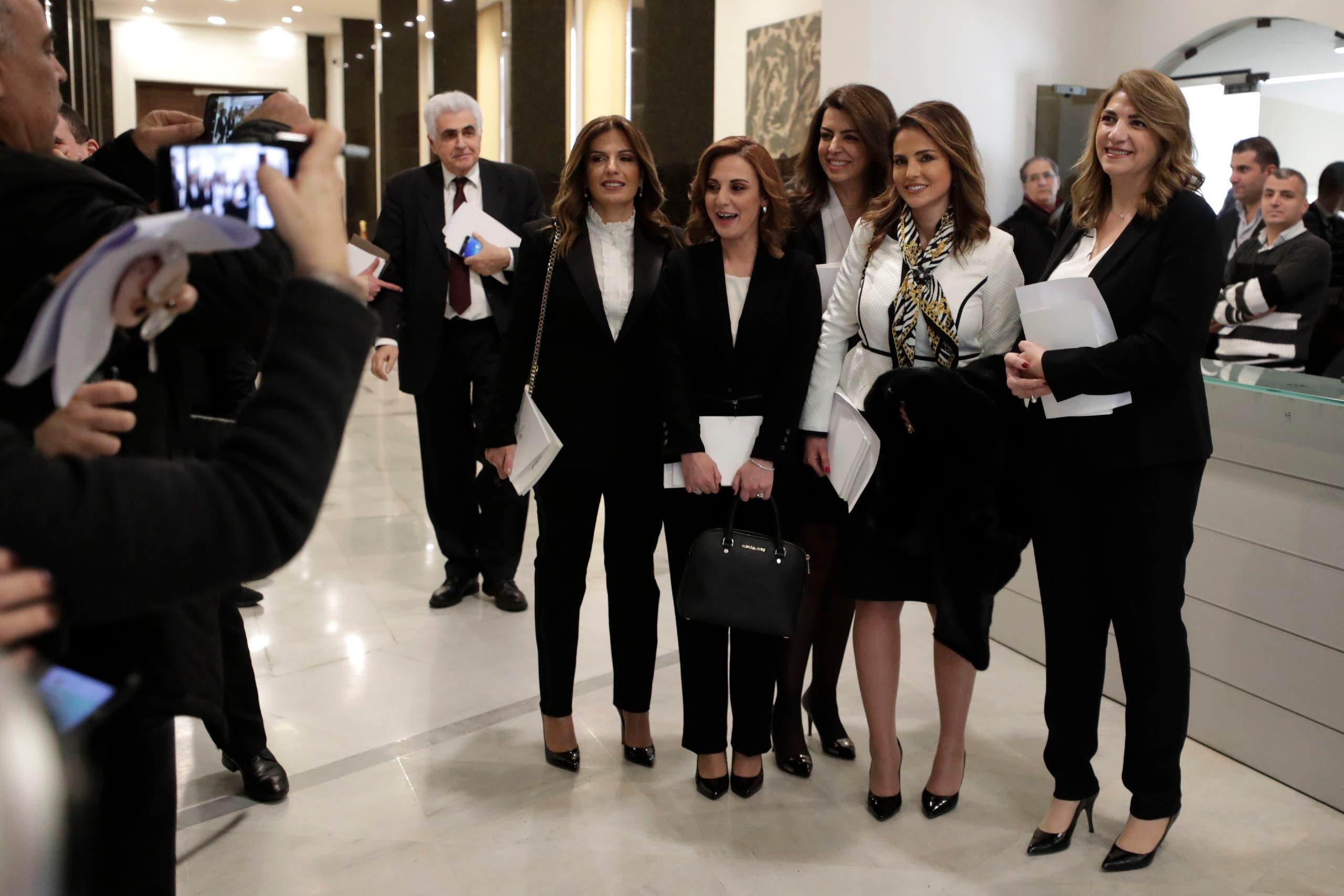 5 وزيرات لبنانيات