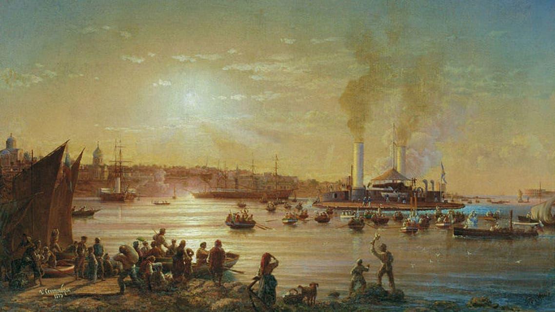 لوحة تجسد السفينة نوفوغرود
