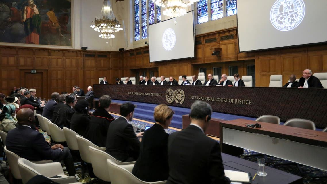General view of the court during the ruling in a case filed by Gambia against Myanmar alleging genocide against the minority Muslim Rohingya population, at the International Court of Justice (ICJ) in The Hague, Netherlands January 23, 2020. REUTERS/Eva Plevier
