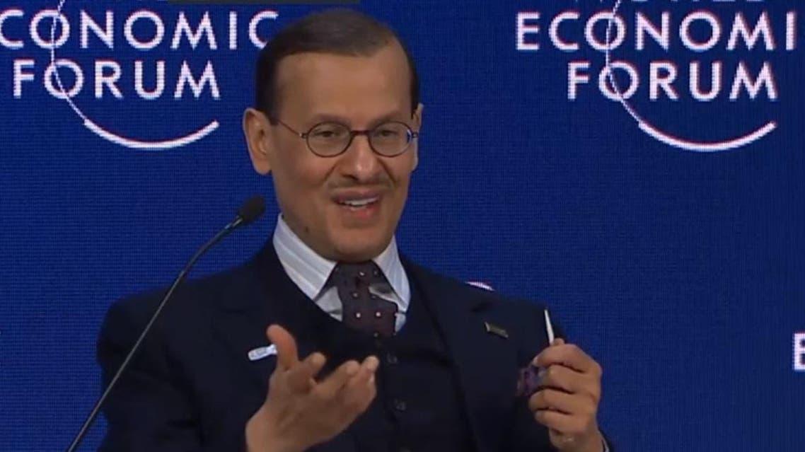 Energy Minister Prince Abdulaziz at Davos (Screengrab)