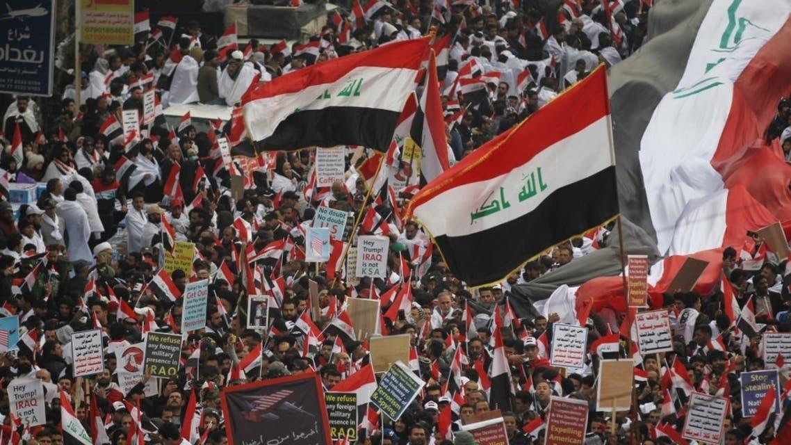مظاهرات أنصار الصدر 24 يناير فرانس برس