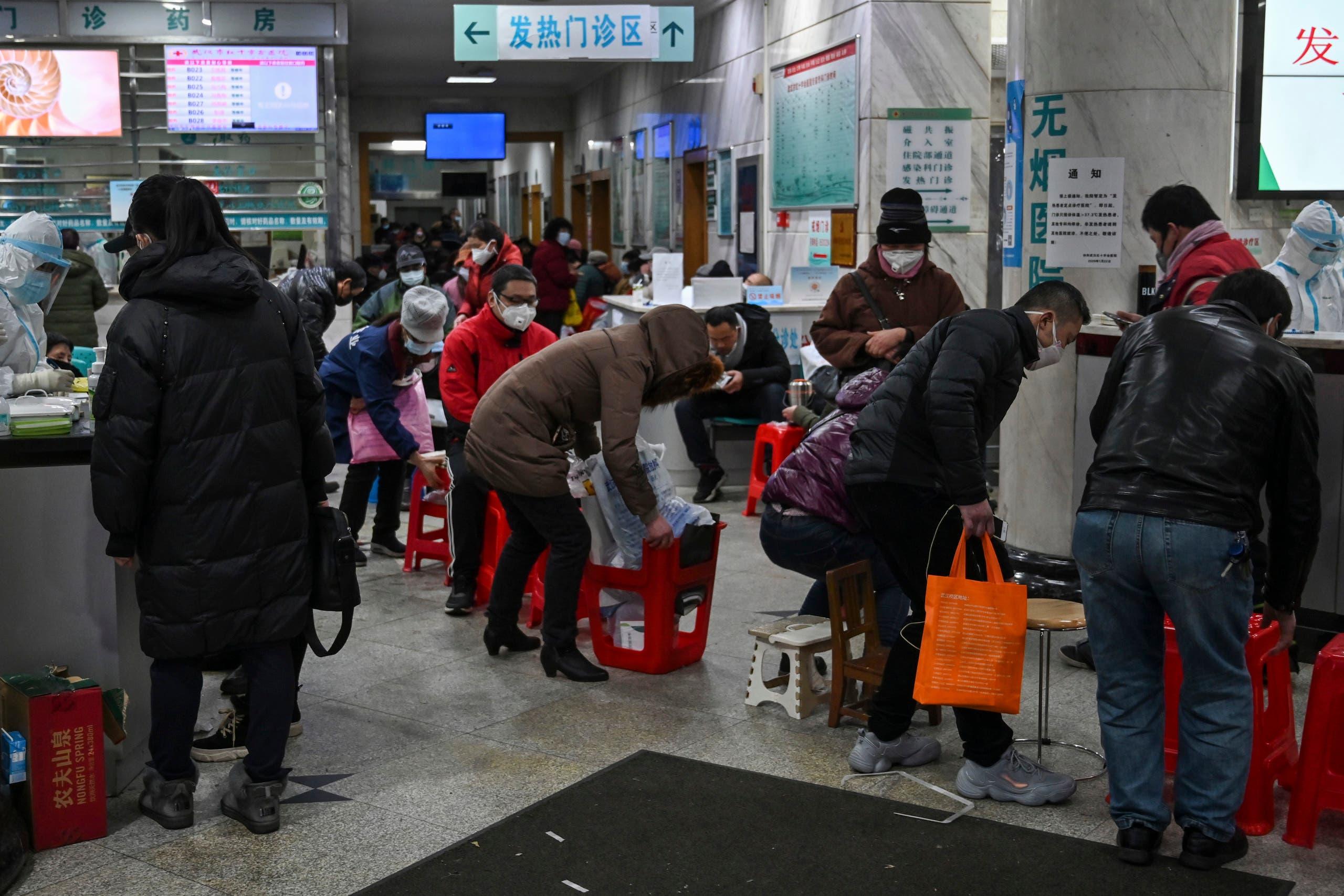 من مدينة ووهان الصينية