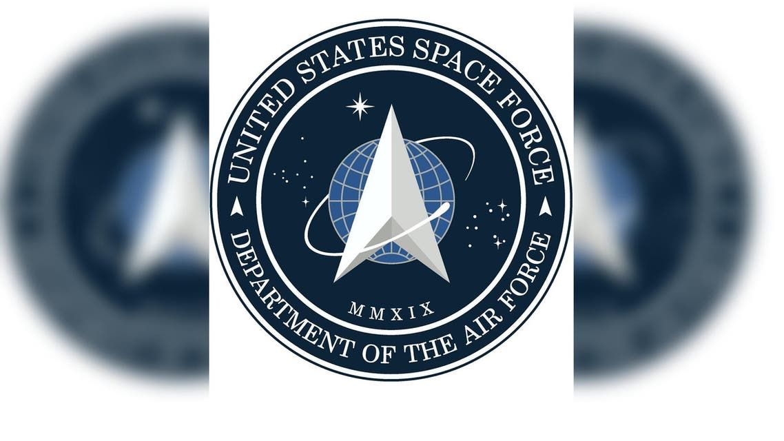 A new logo for the US Space Force is seen after being released by US President Donald Trump in Washington. (Reuters)