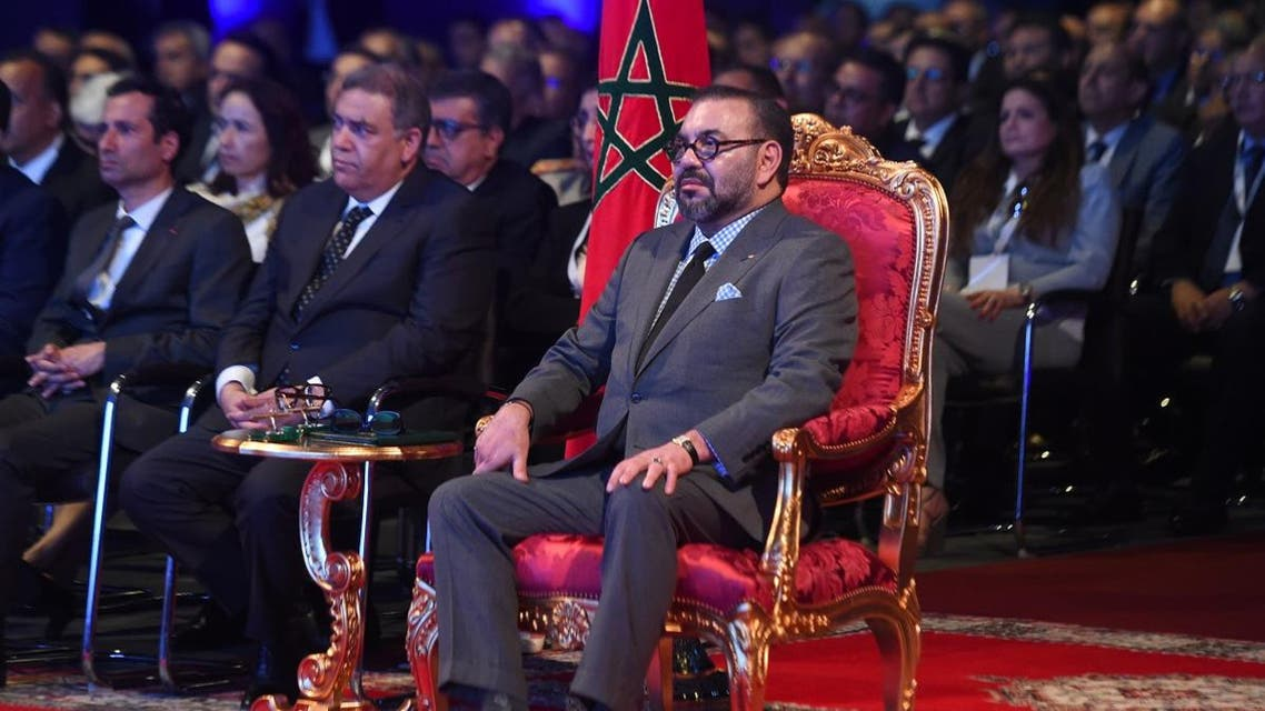 The Moroccan King Mohammed VI attends the inauguration of a car assembly line at the Kenitra PSA Car Assembly Plant on June 21, 2019. (File photo: AFP)