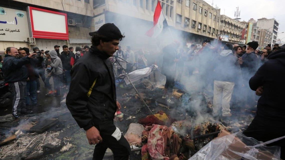 ساحة التحرير في بغداد 25 يناير - فرانس برس