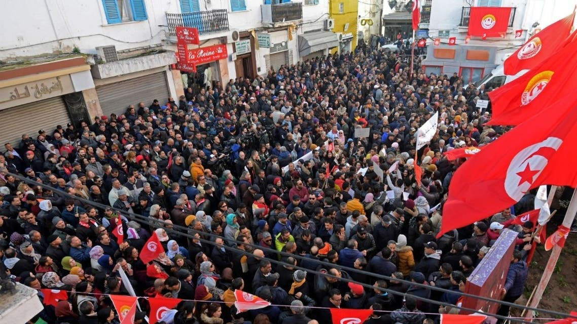 تظاهرات في تونس - فرانس برس
