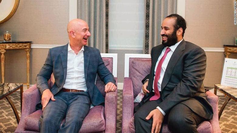 Bezos with MBS
