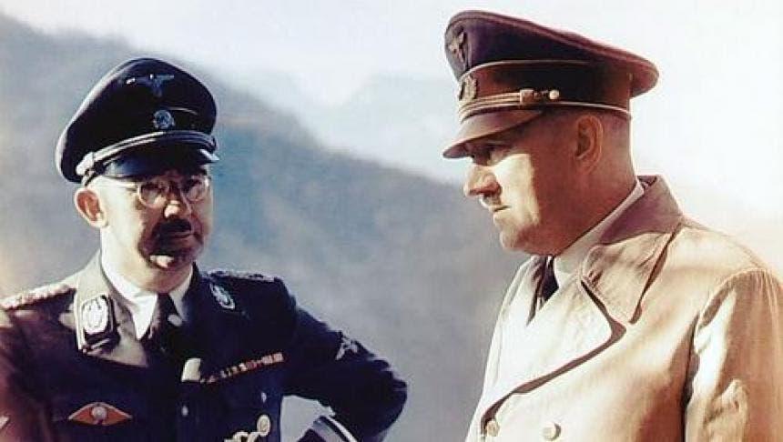 صورة ملونة تجمع بين هتلر وهملر بمنزل أوبر سالزبرغ - Copy
