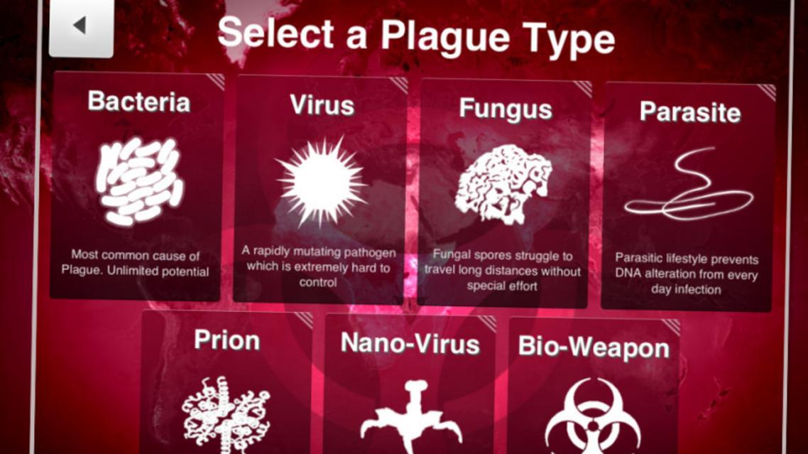 screengrab from Plague Inc website