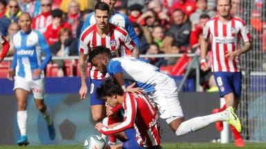 أتلتيكو مدريد يواصل ترنحه ويتعادل مع ليغانيس