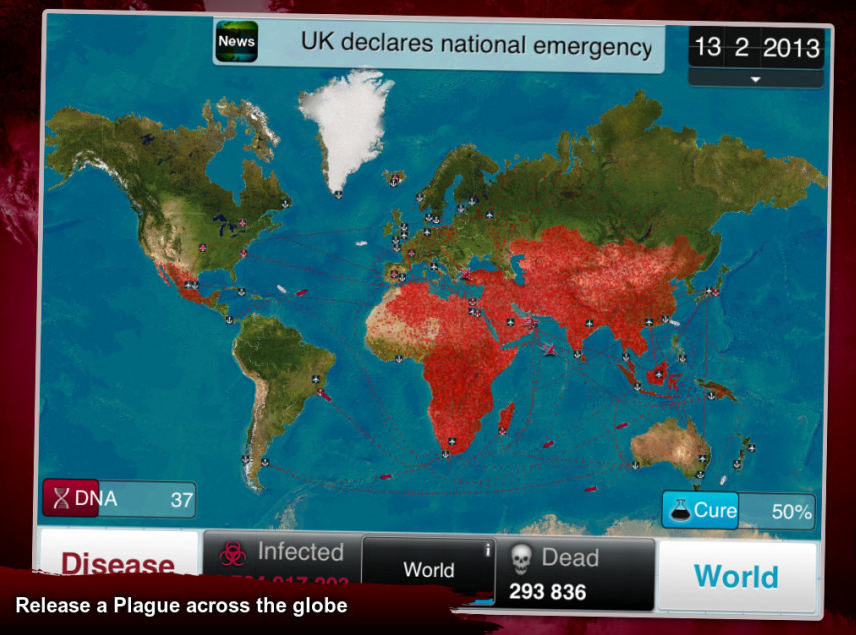 screengrab from Plague Inc website