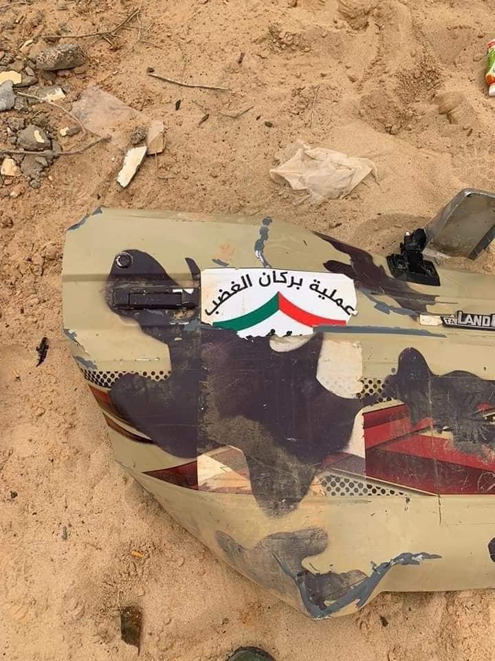 من آثار اشتباكات أبو قرين شرق مصراتة