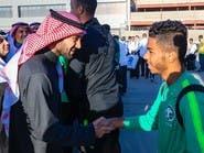 عبدالعزيز الفيصل يستقبل بعثة المنتخب الأولمبي