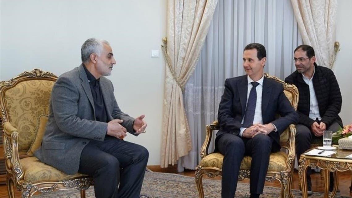 لقاء سليماني ببشار الاسد في طهران