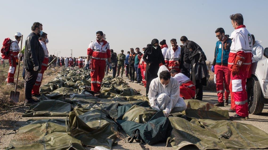 من موقع سقوط الطائرة الأوكرانية
