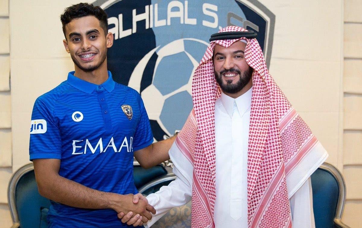 يزن جاري مع رئيس نادي الهلال