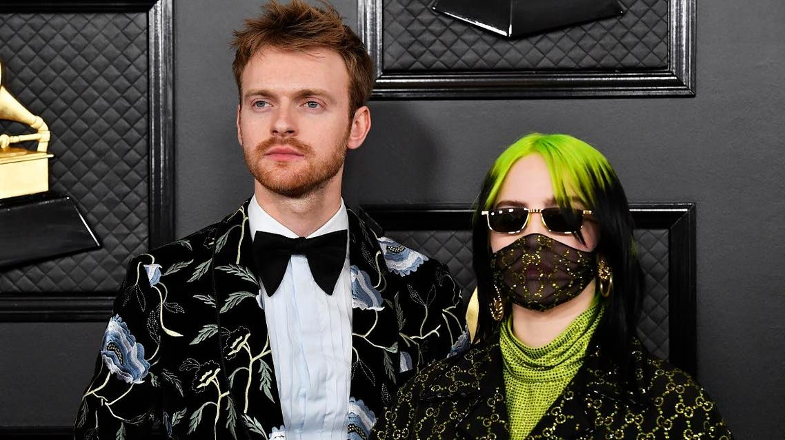 (L-R) Finneas O'Connell and Billie Eilish attend the 62nd Annual GRAMMY Awards at STAPLES Center on January 26, 2020, in Los Angeles, California. (AFP)