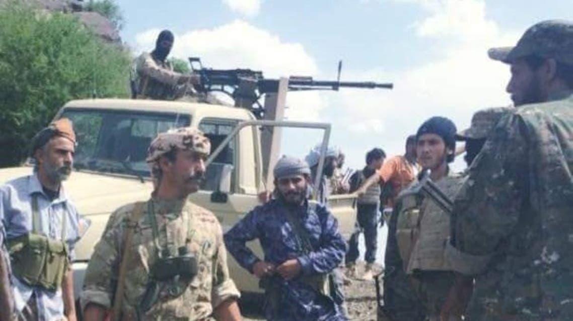 معسكر الحساحس بعد تحريره من الحوثيين