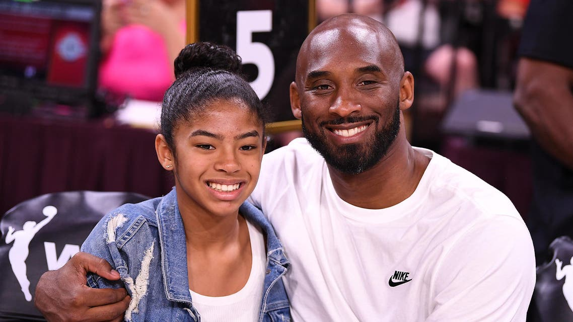 Kobe Bryant is pictured with his daughter Gianna at the WNBA All Star Game at Mandalay Bay Events Center. (Stephen R. Sylvanie, USA TODAY Sports: Reuters)