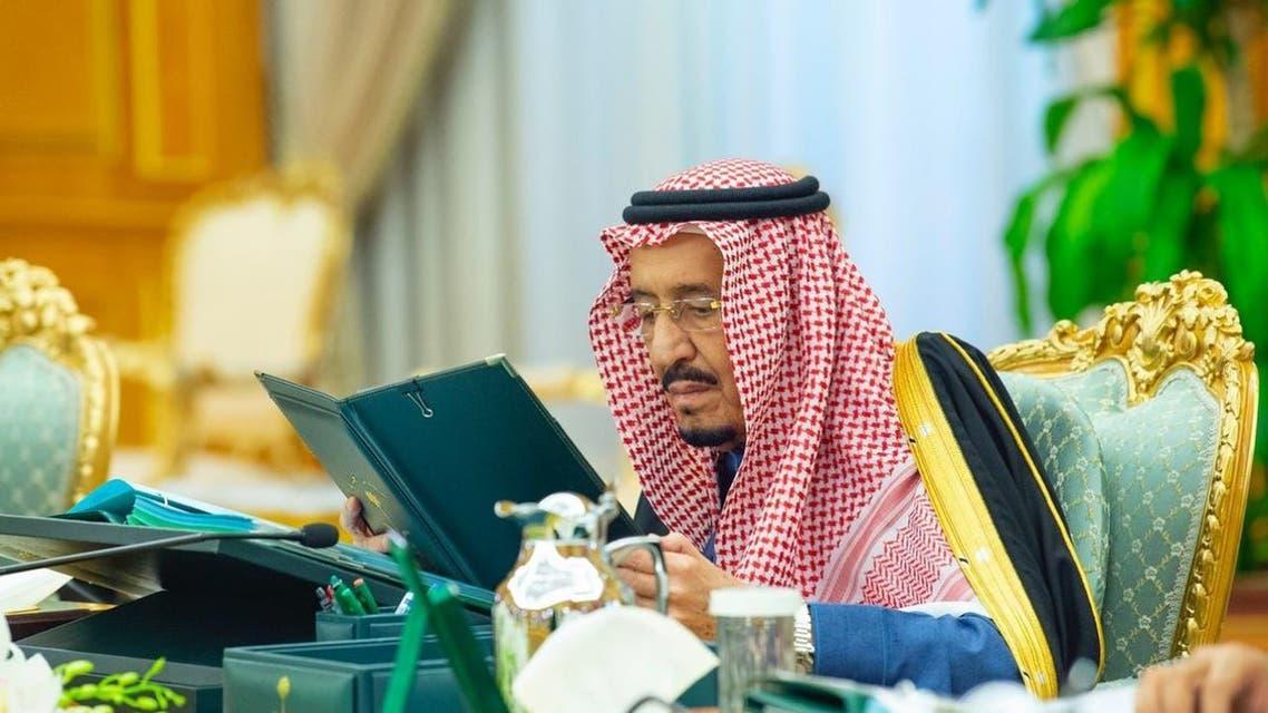 خادم الحرمين الشريفين خلال جلسة مجلس الوزراء