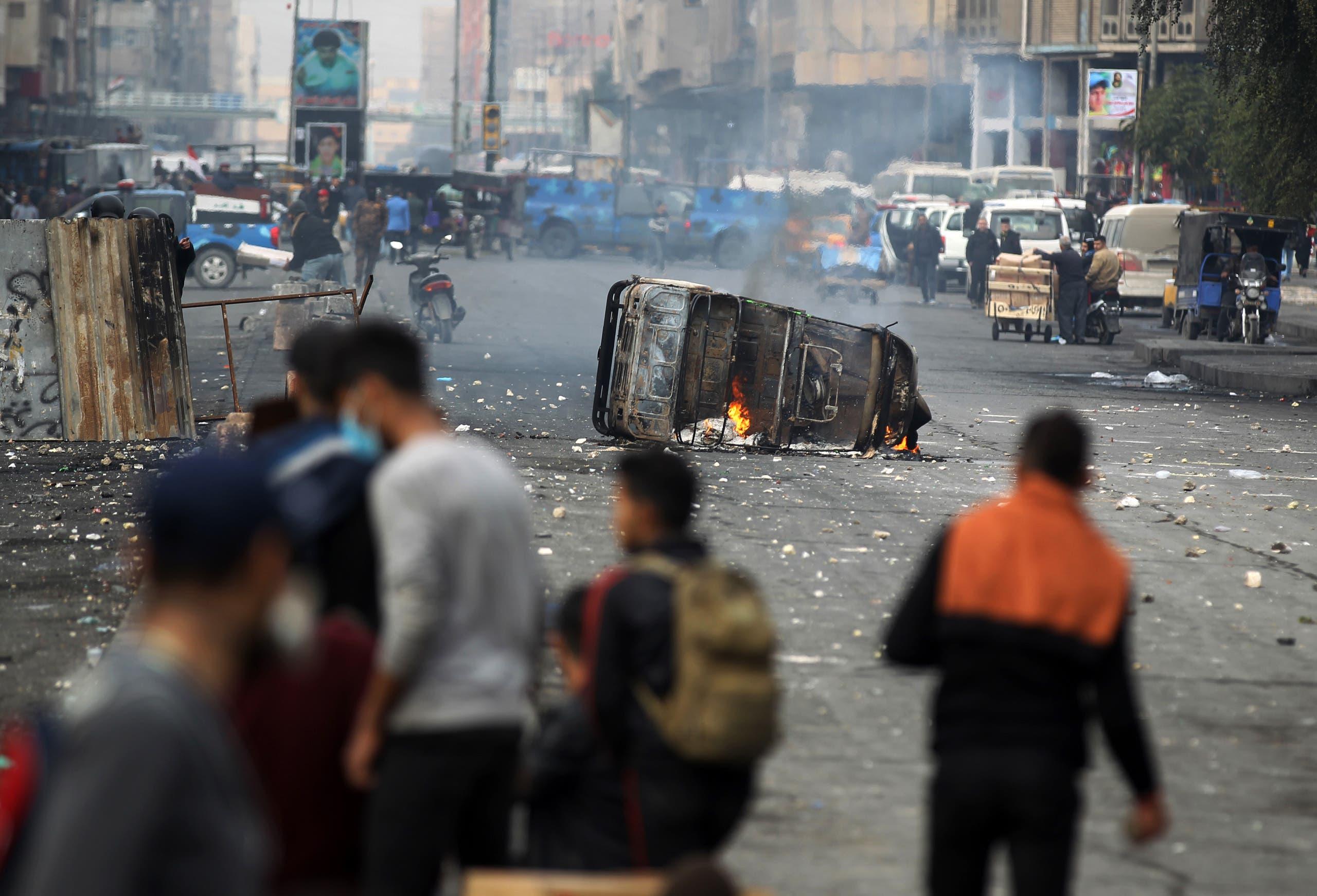 من ساحة الخلاني في بغداد يوم 29 يناير