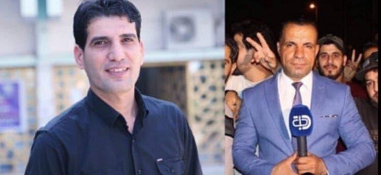 احمد عبد الصمد گزارشگر و صفاء غالي فیلمبردار هر دو در کانال دجله کار می کردند