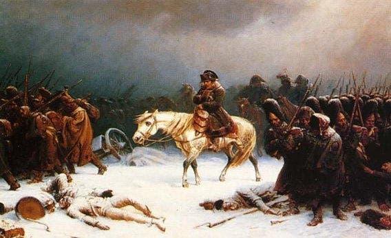 لوحة تجسد انسحاب جيش نابليون من روسيا