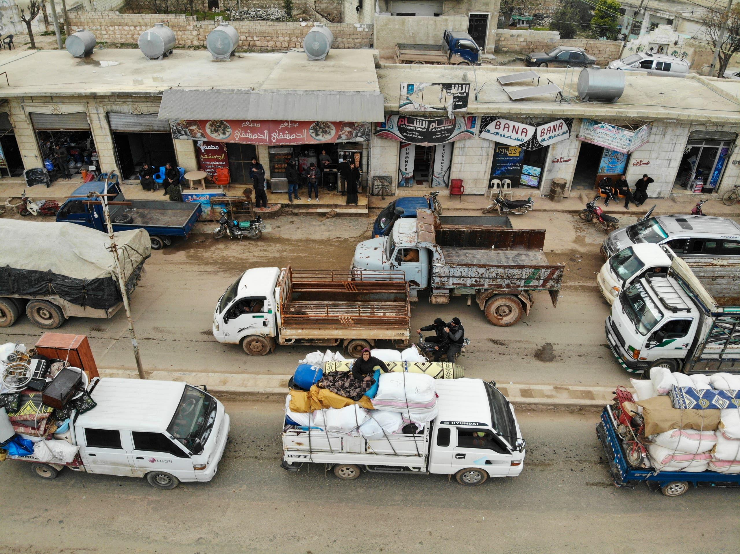 نازحون من إدلب (28 يناير 2020- فرانس برس)