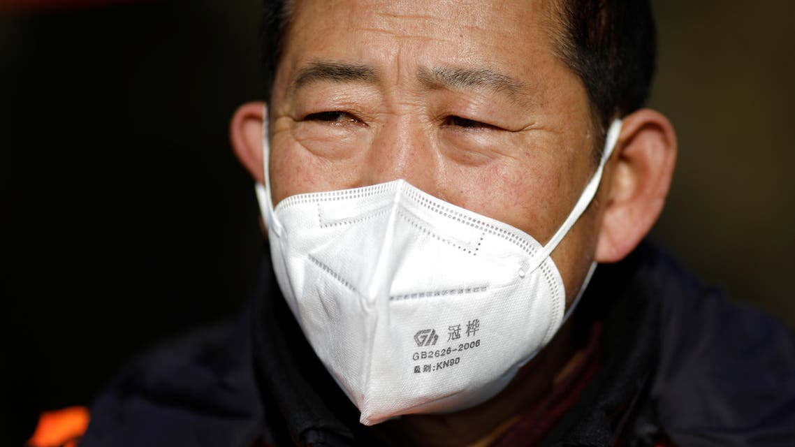 Man near Beijing with mask from coronavirus, China January 29, 2020. (Reuters)