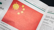 """كورونا تصيب """"علم الصين"""".. صورة دنماركية تغضب بكين!"""