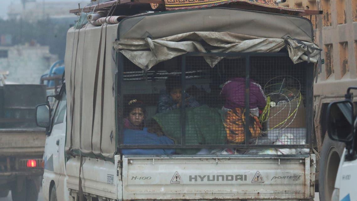 من إدلب في 28 يناير (فرانس برس)