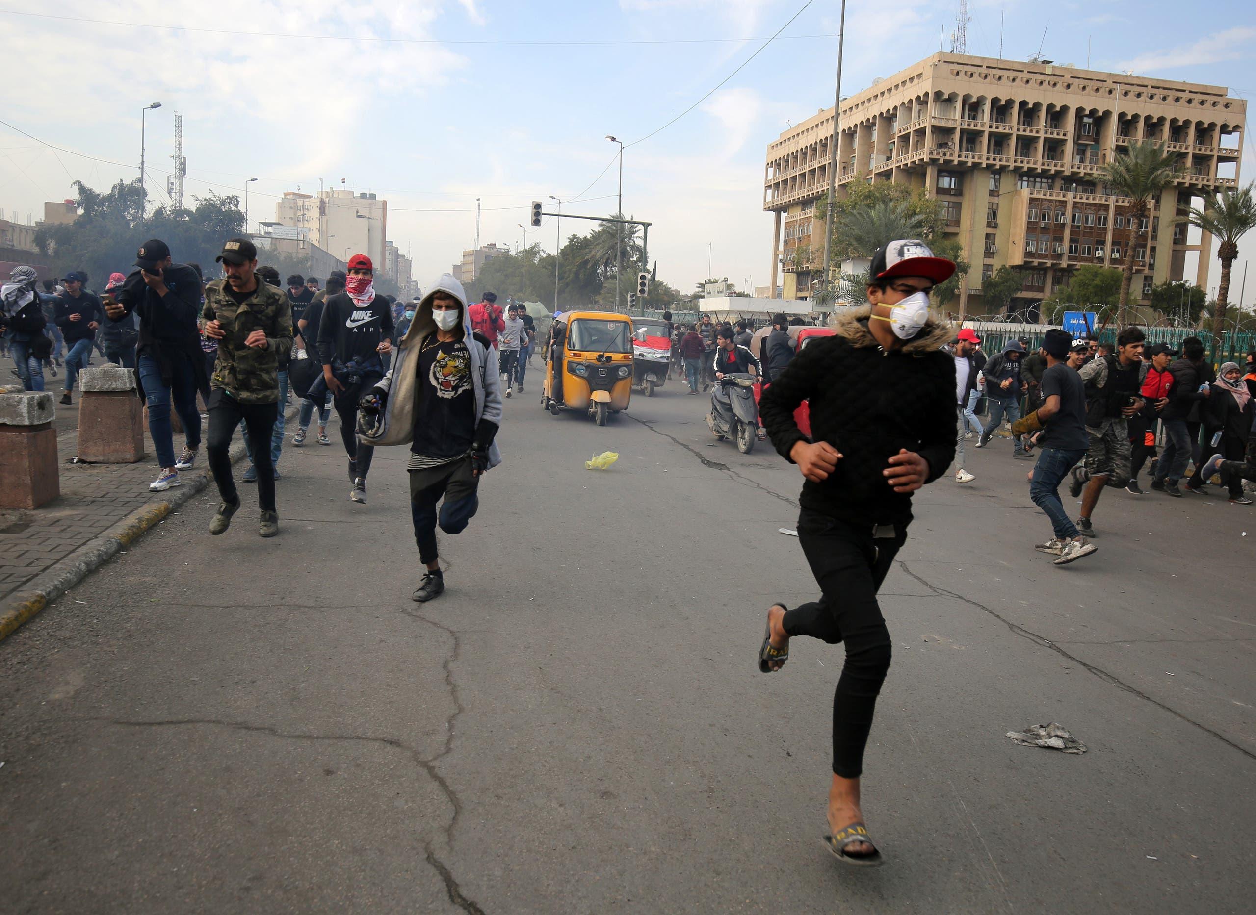 من ساحة الخلاني في بغداد الأربعاء