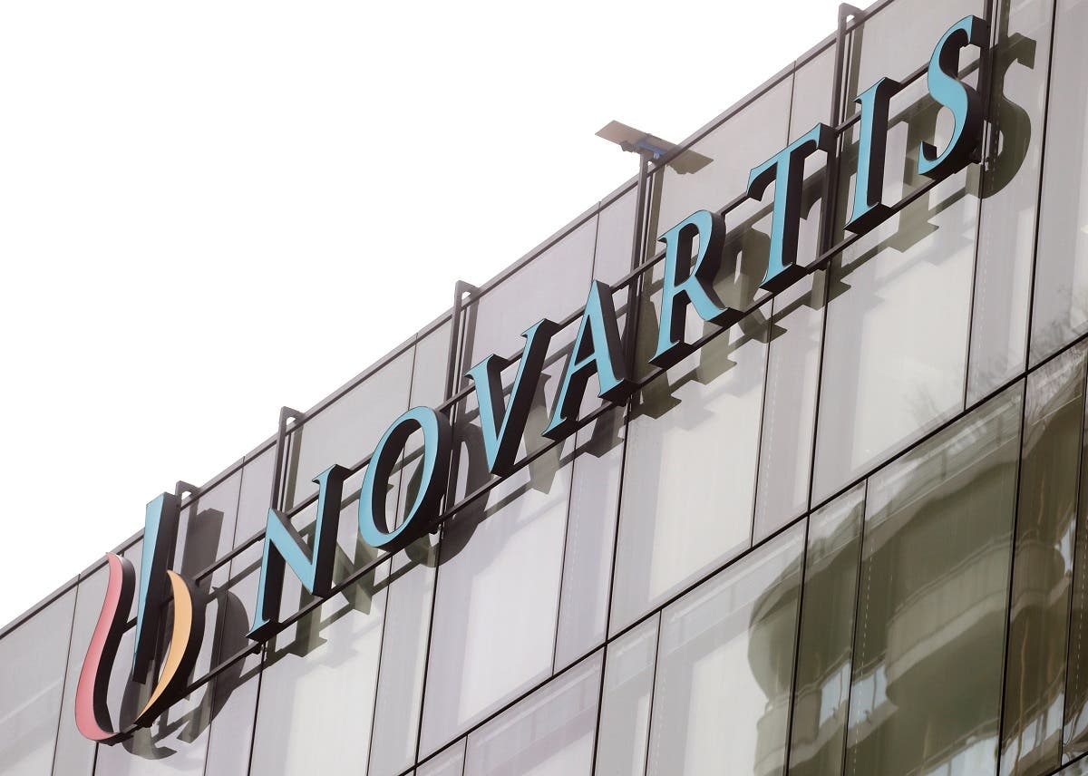 The company's logo is seen at a building of Swiss drugmaker Novartis in Rotkreuz, Switzerland, January 29, 2020. (Reuters)