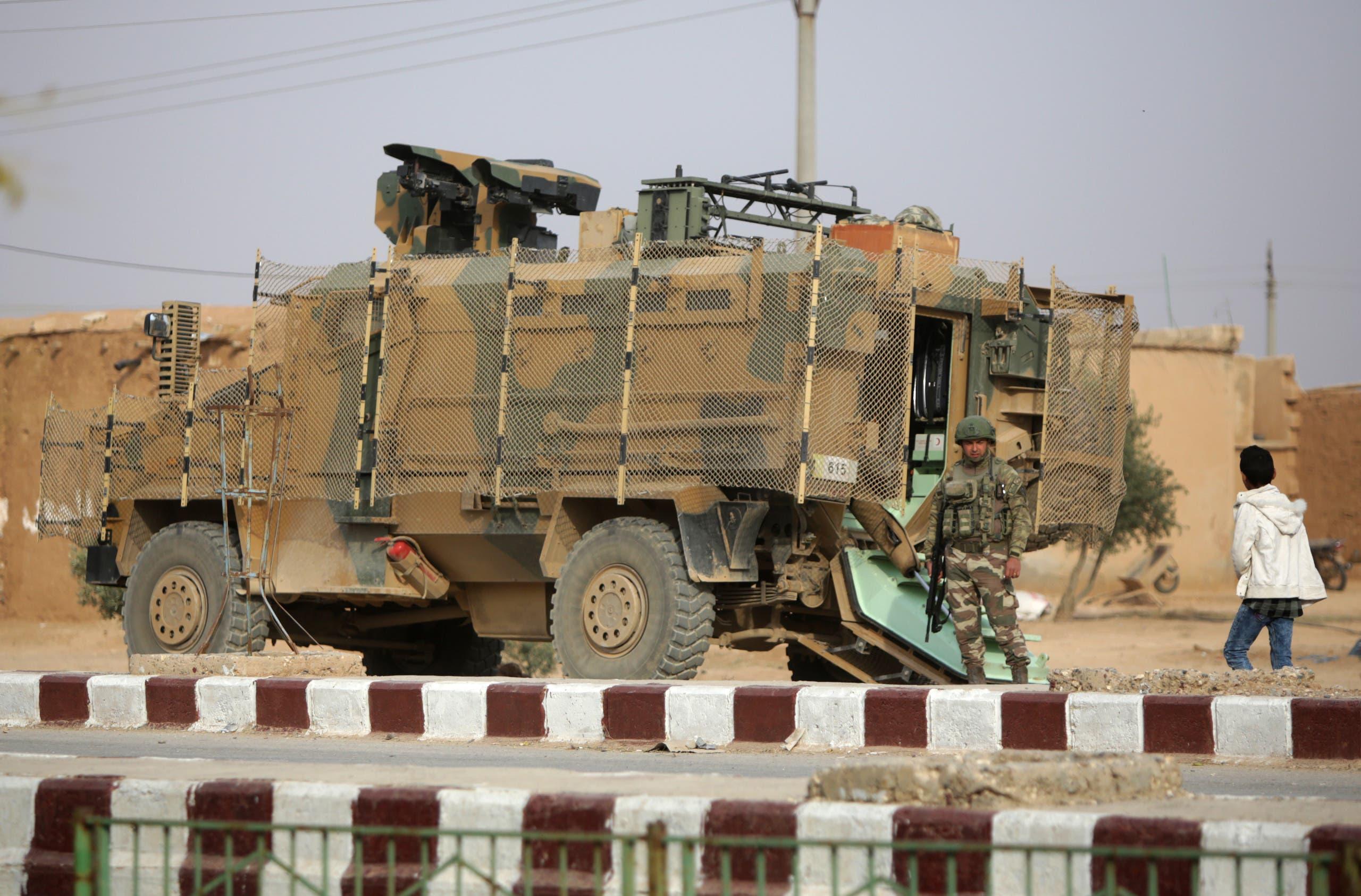 ارتش ترکیه در اطراف عین عیسی