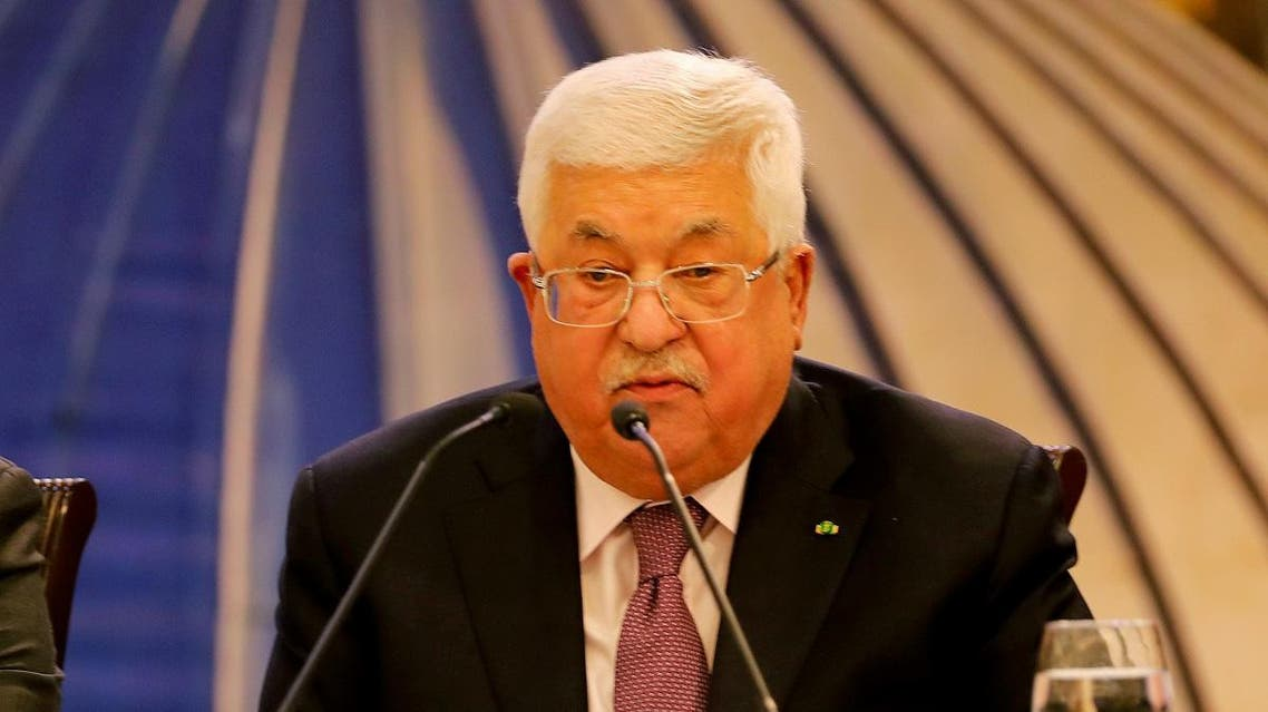 Palestinian President Mahmoud Abbas delivers a speech following the announcement by the US President Donald Trump of the Mideast peace plan. (Reuters)