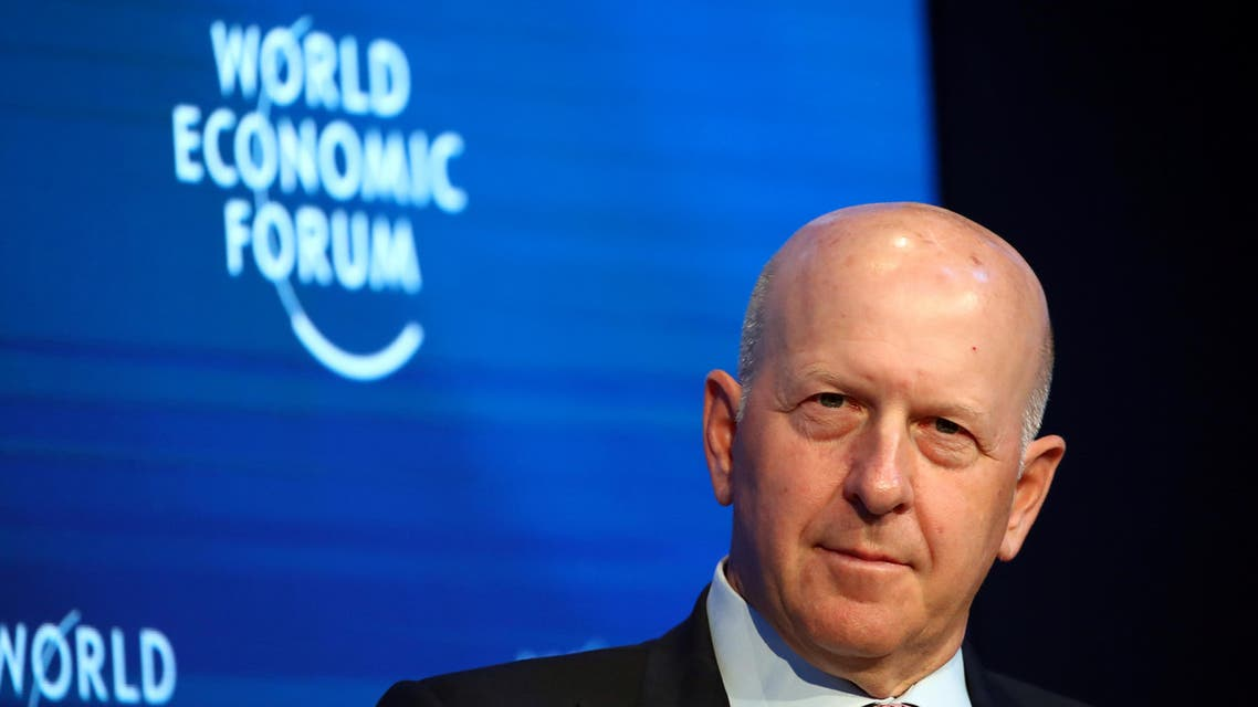 Goldman Sachs' Chairman and CEO David Solomon attends a session at the 50th World Economic Forum (WEF) annual meeting in Davos, Switzerland, January 21, 2020. (Reuters)