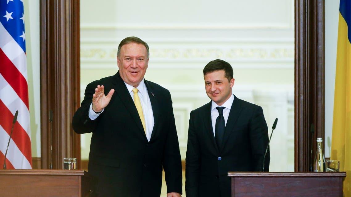 الرئيس الاوكراني وبومبيو في كييف
