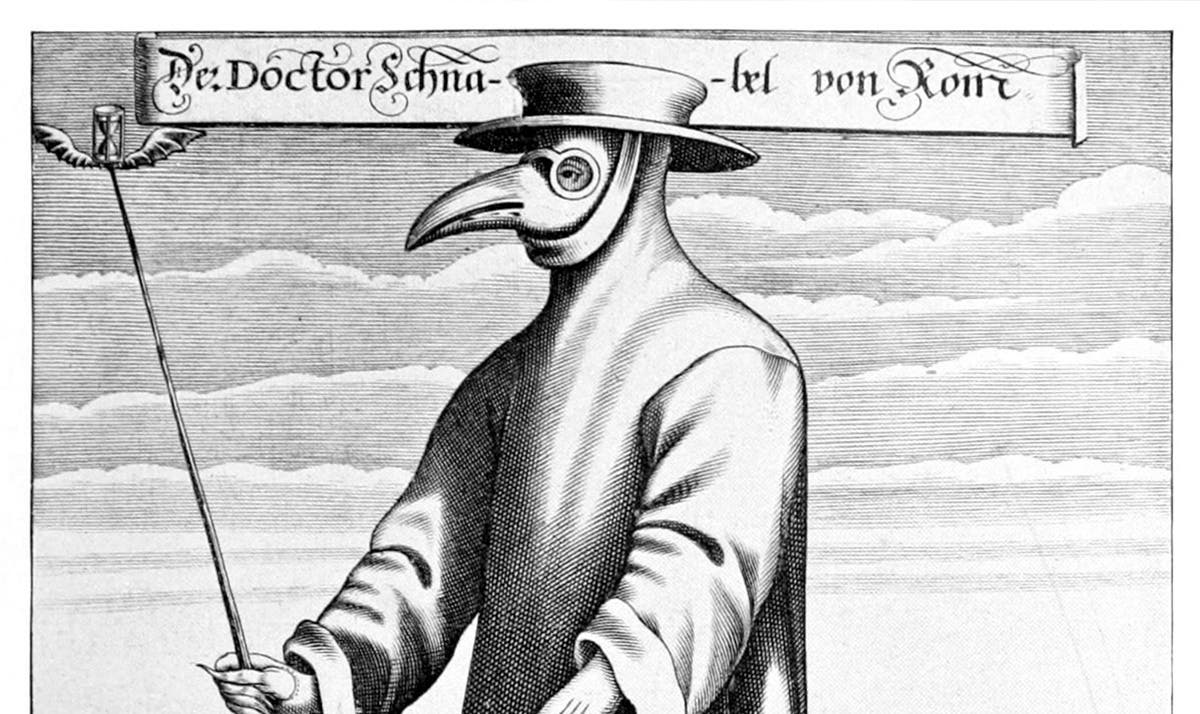 رسم تخيلي لأحد أطباء الطاعون خلال القرون الماضية