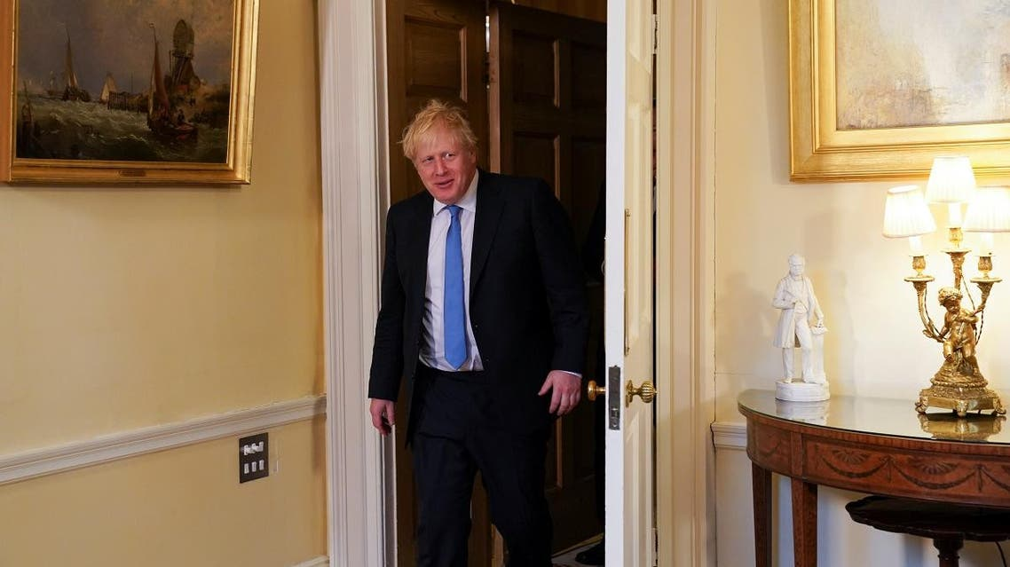 Prime Minister Boris Johnson at Downing Street in London, Britain, on January 30, 2020. (Reuters)