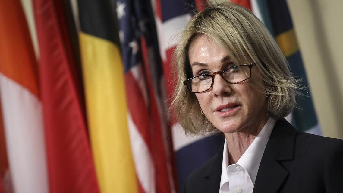 US Ambassador to the United Nations Kelly Knight Craft delivers a brief statement to the press after a closed Security Council meeting, at the United Nations headquarters on October 16, 2019 in New York City. (File photo: AFP)