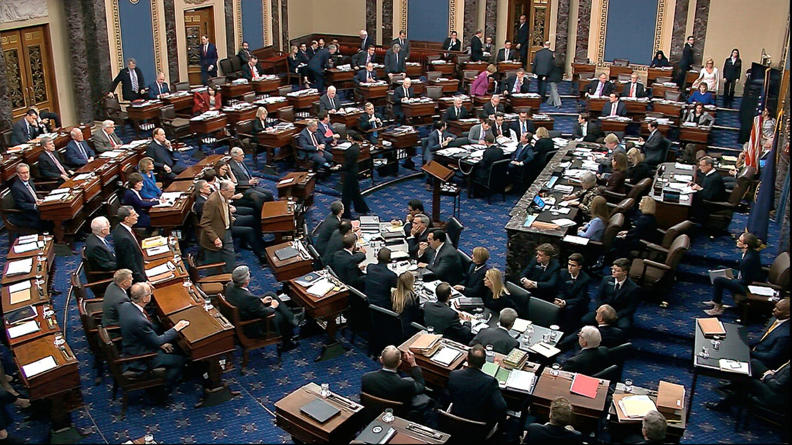 من جلسة مجلس الشيوخ