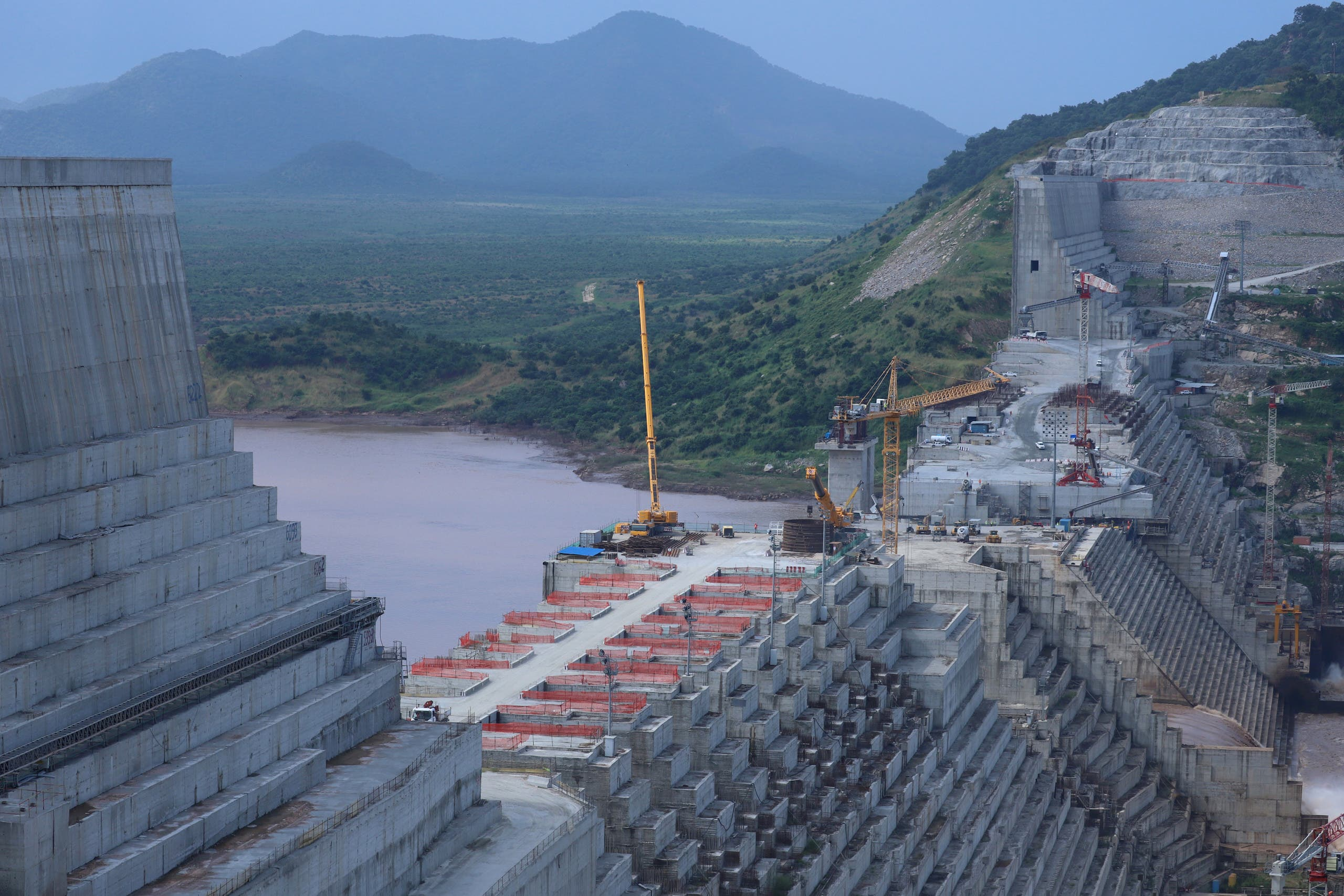 Ethiopia's Grand Renaissance Dam is seen as it undergoes construction work on the river Nile in Guba Woreda, September 26, 2019. (File photo: Reuters)