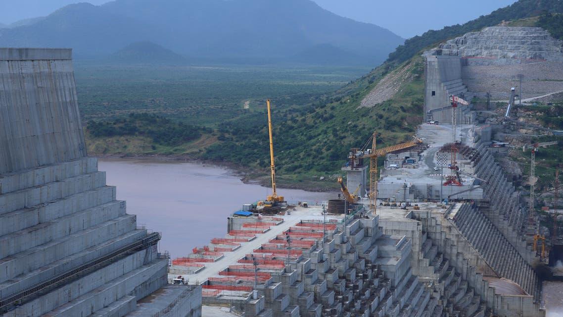 Ethiopia's Grand Renaissance Dam is seen as it undergoes construction work on the river Nile in Guba Woreda, Benishangul Gumuz Region, Ethiopia September 26, 2019. Picture taken September 26, 2019. REUTERS/Tiksa Negeri