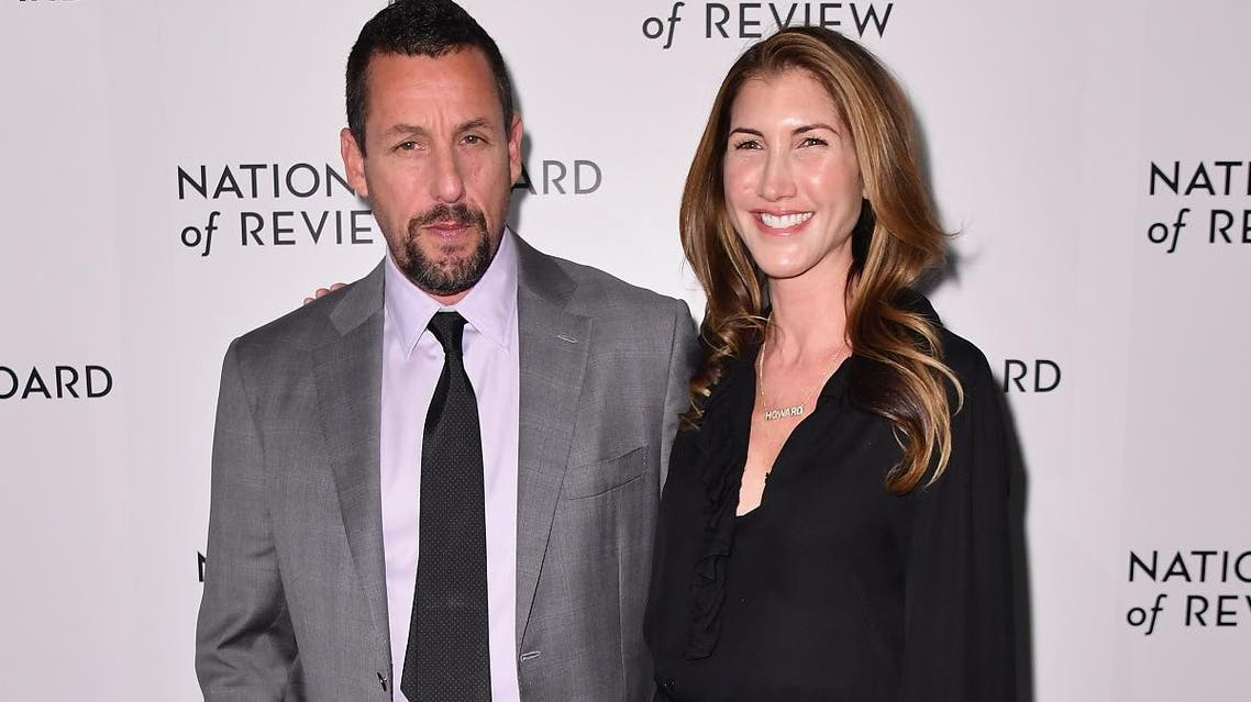 US actor Adam Sandler and his wife Jackie Sandler attend the 2020 National Board Of Review Gala on January 8, 2020 in New York City. (AFP)