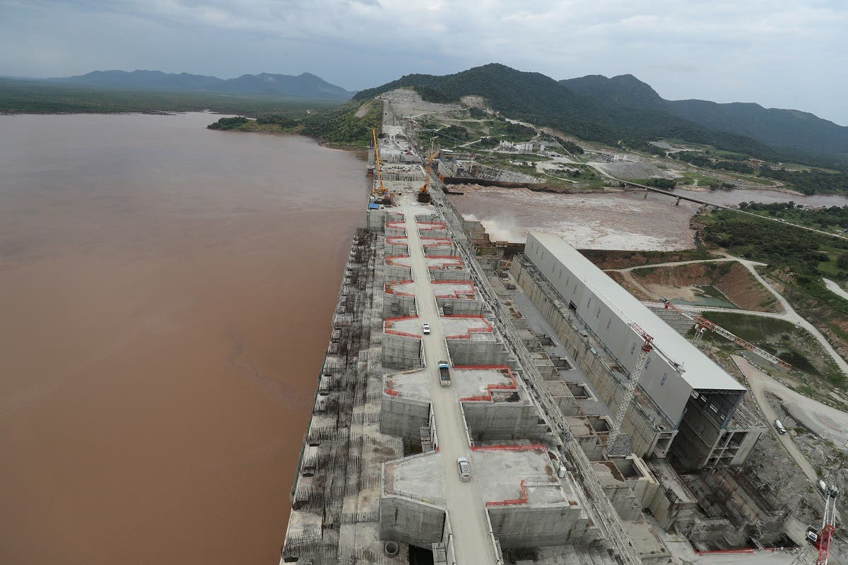 The $4 billion Grand Ethiopian Renaissance Dam (GERD), under construction near Ethiopia's border with Sudan on the Blue Nile, which flows into the Nile river. (Reuters)