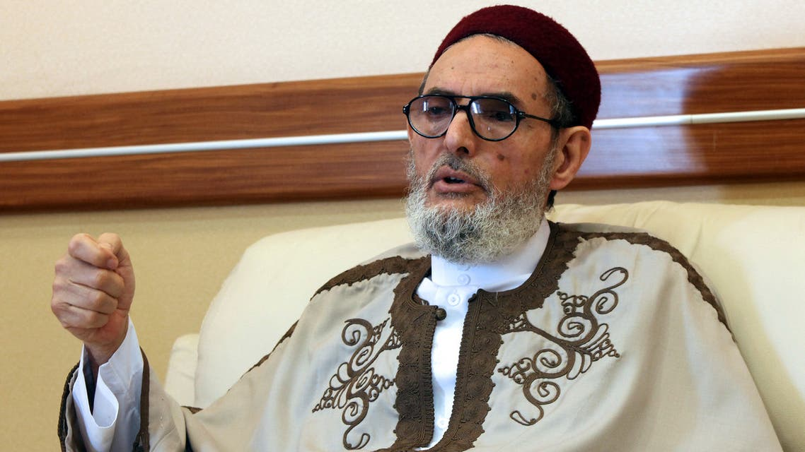 Libyan mufti Sheikh Sadeq al-Ghariani sits in his office in the capital Tripoli on April 12, 2012. While Libyans were fighting to oust dictator Moamer Kadhafi last year, the new National Transitional Council named Sheikh Sadeq al-Ghariani in May 2011 as the top religious authority and judge of what is forbidden or permitted under Islam. The Tripoli-based scholar and author of 32 books was among the first to speak out against Kadhafi's regime after it launched a violent crackdown against a popular uprising in February 2011 in the eastern city of Benghazi and when Kadhafi was captured and slained last October, the grand mufti ruled the former strongman to be an infidel, unworthy of prayers. AFP PHOTO/MAHMUD TURKIA